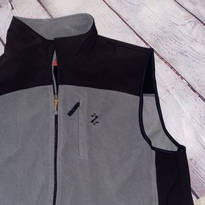 IZod | Men's Active Vest | Black & Gray | Size XL